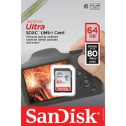 Sandisk SDSDunc-064g-an6in Ultra SDXC Memory Card (64 GB)