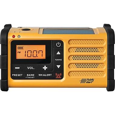 Sangean – Radio météo AM/FM à chargement à manivelle, solaire et USB (SNGMMR88)