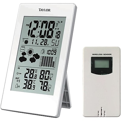 Taylor Digital Weather Forecaster With Barometer & Alarm Clock 2088629