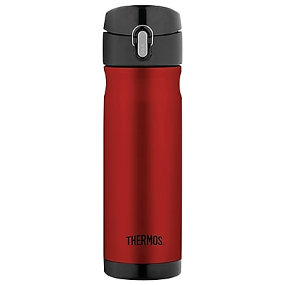 Thermos Stainless Steel Vacuum Insulated Direct Drink Backpack Bottle, Cranberry, 16 Oz.