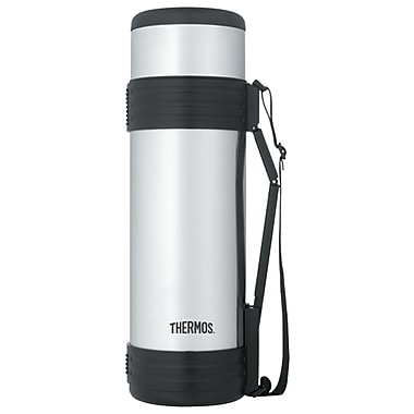 Thermos Stainless Steel Vacuum Insulated Beverage Bottle With Handle, 1.8l