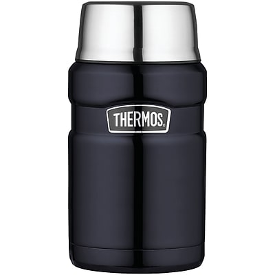 Thermos Stainless Steel Vacuum Insulated Food Jar, Midnight Blue, 24 Oz.