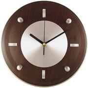 """Timekeeper 11"""" Round Wall Clock (espresso Brown)"""