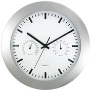 "Timekeeper 12"" Round Wall Clock & Weather Station"