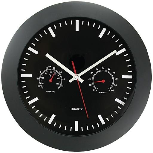 "Timekeeper 12"" Temperature & Humidity Wall Clock"
