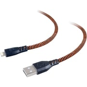 Tough Tested Braided Fabric Lightning To USB Charge & Sync Cable, 6ft
