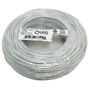 UPG 18-gauge, 2-Conductor Striped Control White Cable, 500' Speedbag (UBC77519)