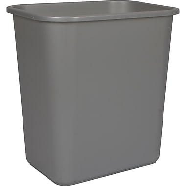 Staples® Wastebasket, Grey