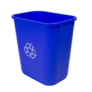 Storex Household Medium Recycling Basket, 7gal, Blue Plastic (STX00714U01C)