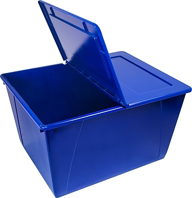 Storex Storage Tub, Blue (STX0900U04C)