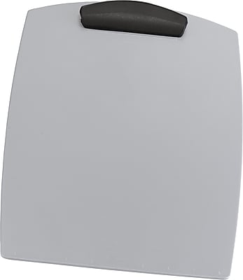 Storex Plastic Clipboard, Legal, Silver, 15.75