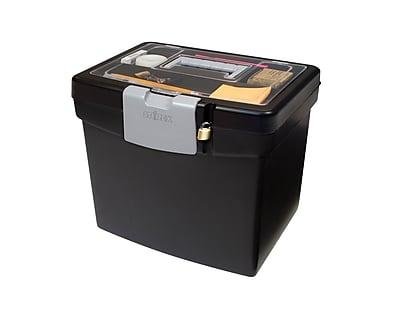 Storex Portable File Box, Letter (STX61504U01C)