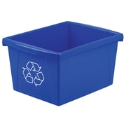 Storex 4-Gallon Plastic Household, Blue (STX61505U06C)