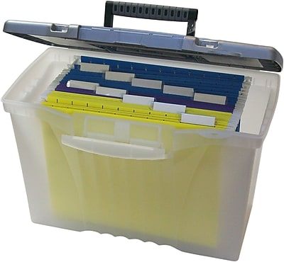 Storex Portable File Box with Organizer Lid, Letter/Legal (STX61511U01C)