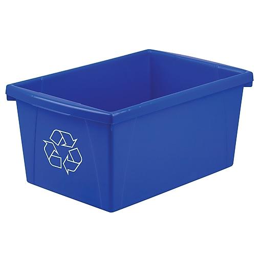 Storex 5.5gal Plastic Household Waste Basket, Blue (STX61517U06C)