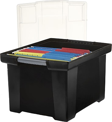 Storex Storage File Tote with Comfort Grips, Letter/Legal (STX61528U01C)