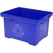 Storex 9gal Plastic Household Waste Basket, Blue (STX61549U01C)