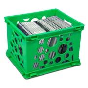 """Storex Mini Crate, 6""""H x 7.75""""L x 9""""W, Green, 3/Set (STX61596U03C)"""