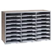 Storex Plastic Literature Organizer, 24 Compartment, Gray (STX61610U01C)