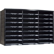 Storex Plastic Literature Organizer, 24 Compartment, Black (STX61611U01C)
