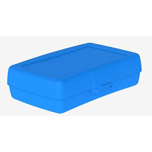 Storex Pencil Box, Assorted, 12/CT (STX61613U12C)