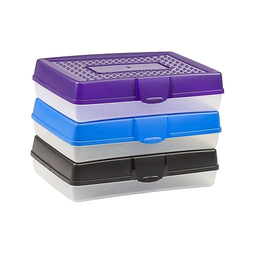 Storex Pencil Box, Assorted, 12/CT (STX61632U12C)