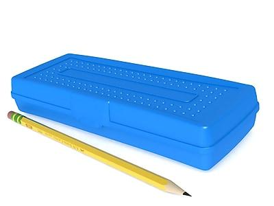 Storex Pencil Box, Assorted, 12/CT (STX61633U12C)