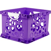 Storex Large Storage and Filing Crate with Comfort Handles, Letter/Legal, 3/CT (STX61754U03C)