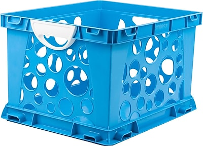 Storex Large Storage and Filing Crate with Comfort Handles, Letter/Legal, 3/CT (STX61767U03C)