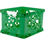 Storex Large Storage and Filing Crate with Comfort Handles, Letter/Legal, 3/CT (STX61780U03C)