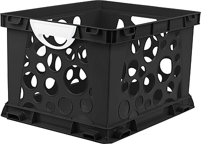 Storex Large Storage and Filing Crate with Comfort Handles, Letter/Legal, 3/CT (STX61788U03C)