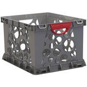 Storex Recycled Filing Crate with Comfort Handles, Letter/Legal, 3/CT (STX61790U03C)