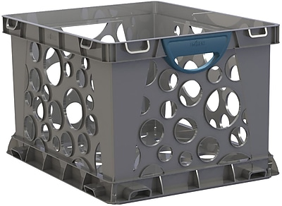 Storex Recycled Filing Crate with Comfort Handles, Letter/Legal, 3/CT (STX61791U03C) 2090998