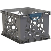 Storex Recycled Filing Crate with Comfort Handles, Letter/Legal, 3/CT (STX61791U03C)