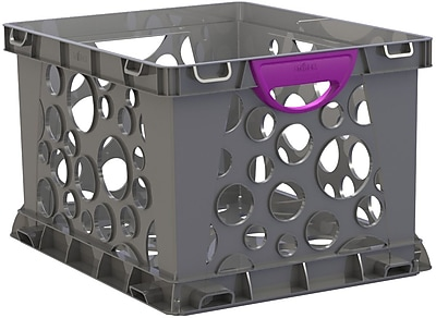 Storex Recycled Filing Crate with Comfort Handles, Letter/Legal, 3/CT (STX61792U03C) 2090997