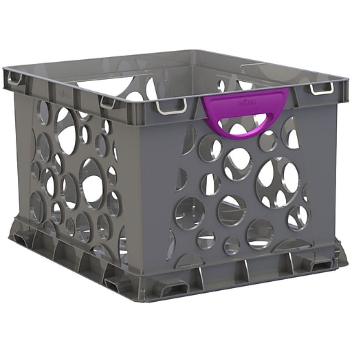 Storex Recycled Filing Crate with Comfort Handles, Letter/Legal, 3/CT (STX61792U03C)