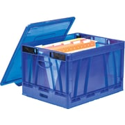 Storex Collapsible Crate with Lid, Letter/Legal (STX61801U01C)