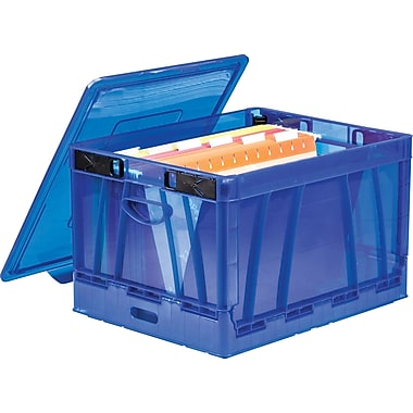 Storex Collapsible Crate with Lid, Letter/Legal, 2/CT (STX61801U02C)