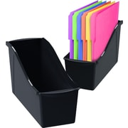 Storex Storage Book Bin, Assorted, (STX70109E06)