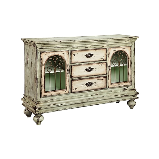 """Stein World Granby 36"""" Accent Cabinet, Weathered Mint (13261)"""