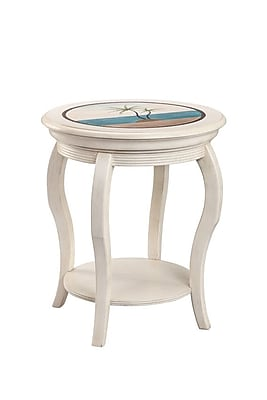 Stein World Sabel Wood End Table, White, Each (13363)