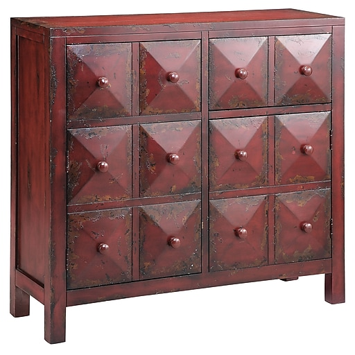 "Stein World Maris 38.75"" Accent Cabinet, Vintage Red (28287)"