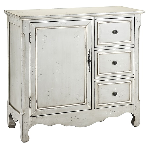 "Stein World Chesapeake 34.5"" Accent Cabinet, Caden Grey, Cream (28292)"