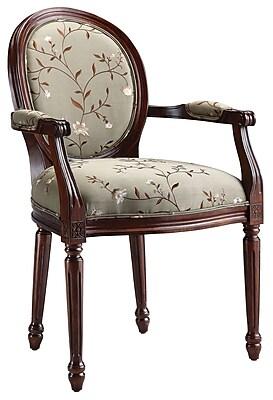 Stein World Antoinette,Walnut, Light Green Accent Chair (28382)