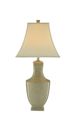 Stein World 150 Watt Honora Table Lamp, Ivory Crackle Ceramic/Nickel Hardware (37859)