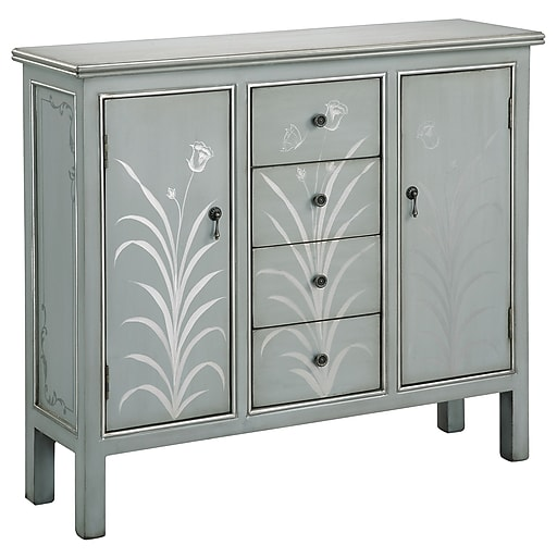 """Stein World Selina 36.75"""" Accent Cabinet, Silver Blue Grey (75768)"""