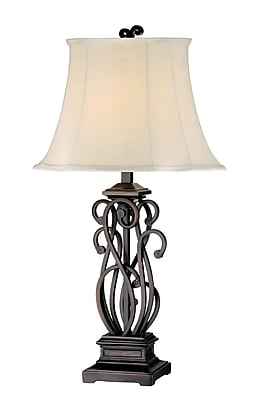 Stein World 150 Watt Suvan Table Lamp Set , Paint Pottery Bronze (96618)