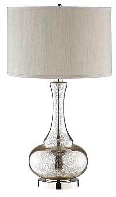 Stein World 150 Watt Lincore Table Lamp, Silver, Chrome (98876)