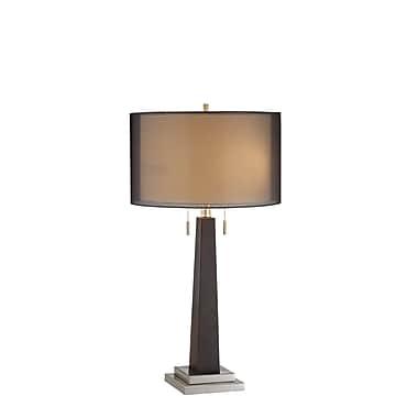 Stein World 40 Watt Jaycee Table Lamp, Ebony, Brushed Steel (99558)