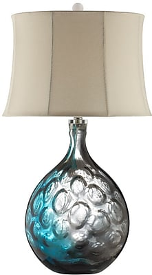Stein World 150 Watt Aura Table Lamp, Blue, Clear (99688)